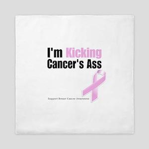 Kicking Breast Cancers Ass Queen Duvet