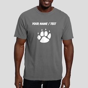 Pawprint Silhouette (Cus Mens Comfort Colors Shirt