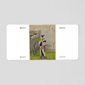 April - Harunobu Suzuki - 1769 Aluminum License Pl