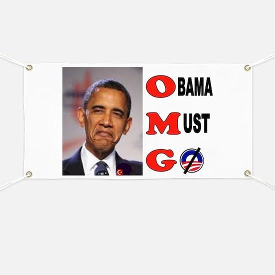 HE GOTTA GO Banner