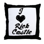I heart Rick Castle Throw Pillow