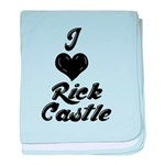 I heart Rick Castle baby blanket