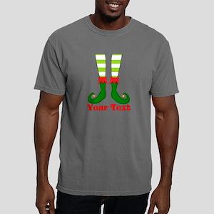 Personalizable Funny Elf Mens Comfort Colors Shirt