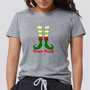 Personalizable Funny Elf  Womens Tri-blend T-Shirt