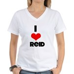I heart Reid Women's V-Neck T-Shirt