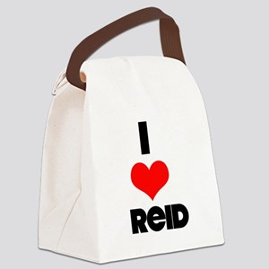 I heart Reid Canvas Lunch Bag