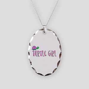 turtlegirl Necklace Oval Charm
