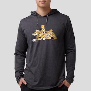 Cheetah Family Mens Hooded Shirt