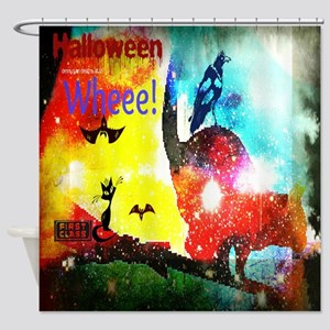 Halloween Fly By1 Shower Curtain