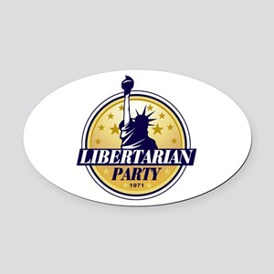 Libertarian Party of America Oval Car Magnet