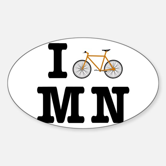 I Bike MN Sticker (Oval)