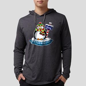 Penguin dark Mens Hooded Shirt