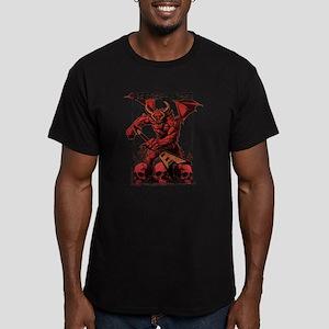 Eternal Edge-Rock N Roll Devils Men's Fitted T-Shi