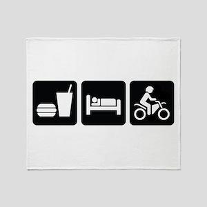 Eat Sleep Dirt Bike Throw Blanket