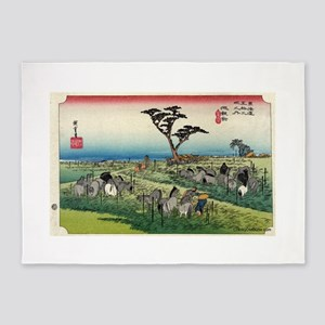 Chiryu - Hiroshige Ando - 1833 5'x7'Area Rug