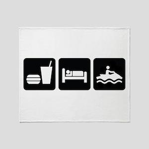 Eat Sleep Jet Ski Throw Blanket