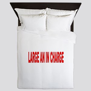 Large an in Charge. Queen Duvet