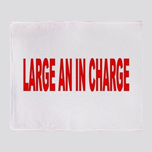 Large an in Charge. Throw Blanket