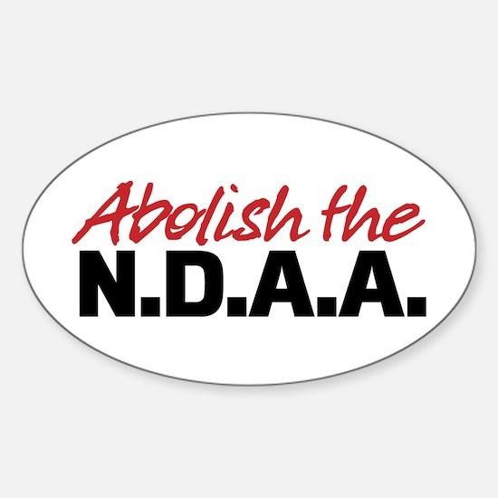 Abolish the NDAA Sticker (Oval)