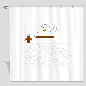Live Broadcasting Shower Curtain