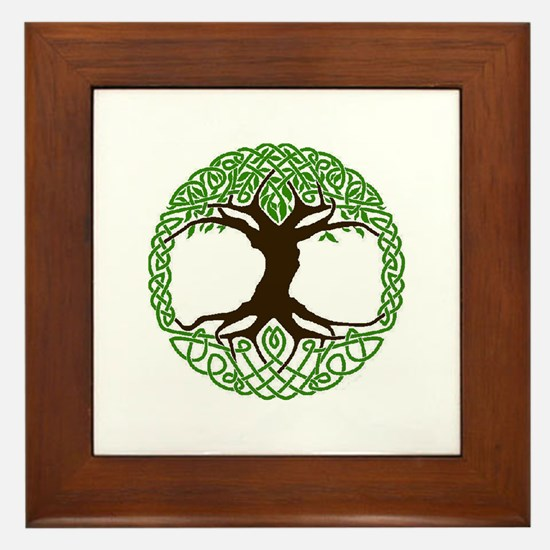 Colored Tree of Life Framed Tile