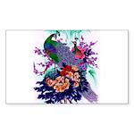 Peacocks in Paradise Art Sticker (Rectangle 50 pk)