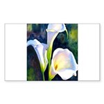 calla lilly art deco flo Sticker (Rectangle 50 pk)