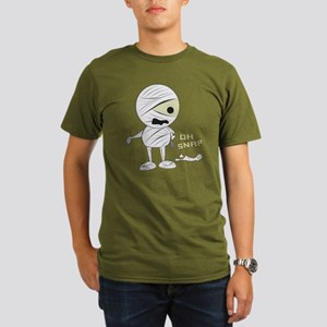 Oh Snap Mummy Halloween Organic Men's T-Shirt (dar