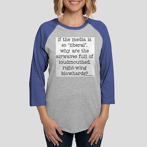 if the media Womens Baseball Tee