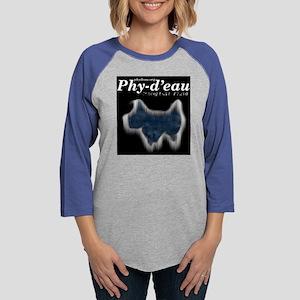 PhyLogoAboveDog Womens Baseball Tee