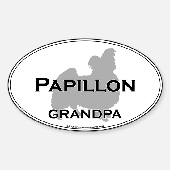 Papillon GRANDPA Oval Decal