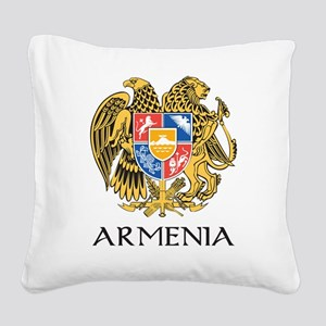 Armenian Coat of Arms Square Canvas Pillow