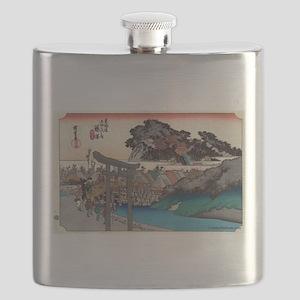 Fujisawa - Hiroshige Ando - 1833 Flask