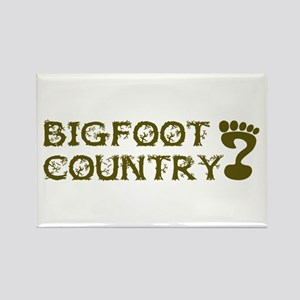 Bigfoot Country Rectangle Magnet