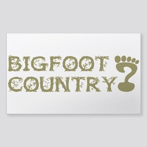 Bigfoot Country Sticker (Rectangle)