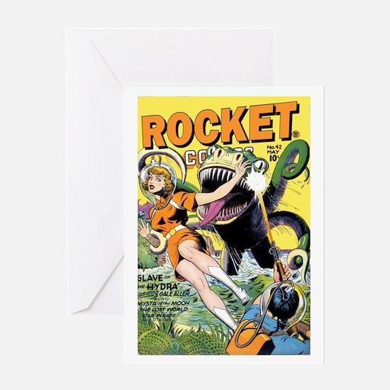Rocket Comics #42 Greeting Card