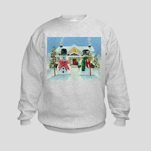 American Snowman Gothic Kids Sweatshirt
