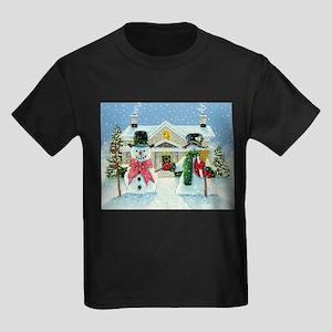 American Snowman Gothic Kids Dark T-Shirt