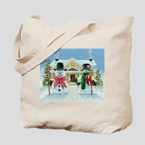 American Snowman Gothic Tote Bag