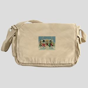 American Snowman Gothic Messenger Bag