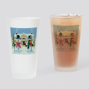 American Snowman Gothic Drinking Glass