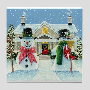 American Snowman Gothic Tile Coaster