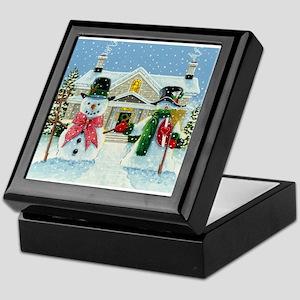 American Snowman Gothic Keepsake Box
