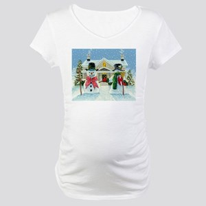 American Snowman Gothic Maternity T-Shirt