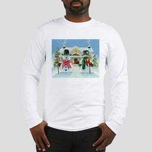 American Snowman Gothic Long Sleeve T-Shirt