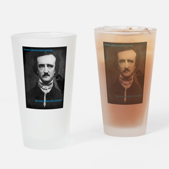 Poe Boy Drinking Glass