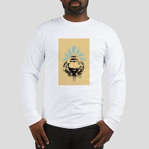 Laughing Buddha with Coffee Long Sleeve T-Shirt