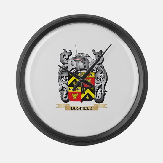 Busfield Family Crest - Busfield Large Wall Clock