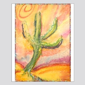 Desert, southwest art! Saguaro cactus! Small Poste