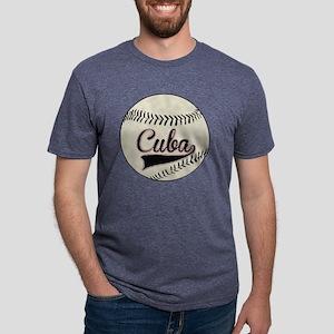 Cuba Baseball Mens Tri-blend T-Shirt